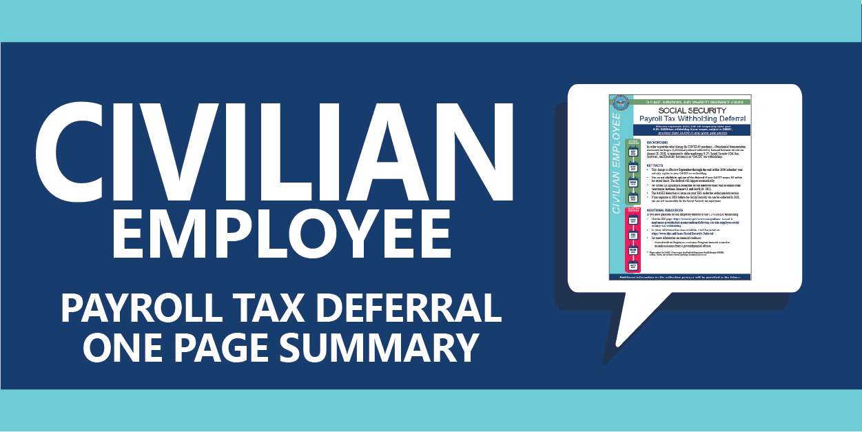raphic links to Civilian Fact Sheet on Tax Deferral