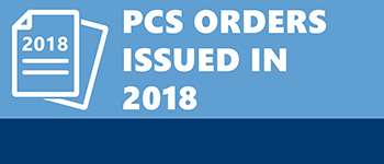 Button for PCS orders issued in 2018