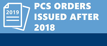 Button for PCS orders issued after 2018